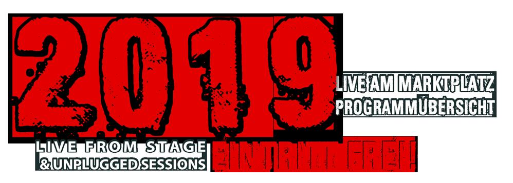 Live am Marktplatz 2019 Programmübersicht